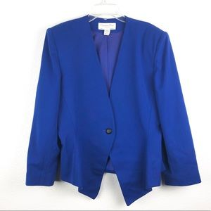 Christian Dior The Suit Royal Blue Wool Blazer